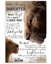 Family To My Amazing Daughter 11x17 Poster front