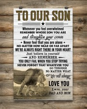 To Our Son Dad and Mom 11x17 Poster aos-poster-portrait-11x17-lifestyle-14