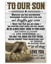 To Our Son Dad and Mom 11x17 Poster front