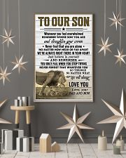 To Our Son Dad and Mom 11x17 Poster lifestyle-holiday-poster-1