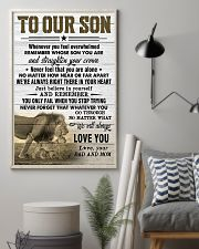 To Our Son Dad and Mom 11x17 Poster lifestyle-poster-1