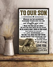 To Our Son Dad and Mom 11x17 Poster lifestyle-poster-3