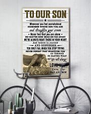 To Our Son Dad and Mom 11x17 Poster lifestyle-poster-7