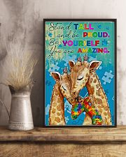 Autism Stand Tall And Be Proud You Are Amazing 11x17 Poster lifestyle-poster-3