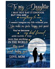 Family To My Daughter Baby 11x17 Poster front