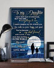 Family To My Daughter Baby 11x17 Poster lifestyle-poster-2