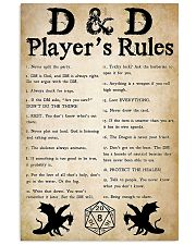 DND Players Rules 11x17 Poster front