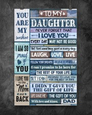 Family To My Daughter -  Dad 11x17 Poster aos-poster-portrait-11x17-lifestyle-12
