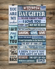 Family To My Daughter -  Dad 11x17 Poster aos-poster-portrait-11x17-lifestyle-14
