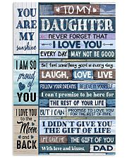 Family To My Daughter -  Dad 11x17 Poster front