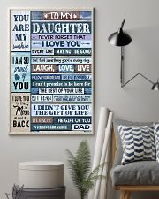 Family To My Daughter -  Dad 11x17 Poster lifestyle-poster-1