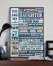 Family To My Daughter -  Dad 11x17 Poster lifestyle-poster-2