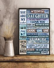 Family To My Daughter -  Dad 11x17 Poster lifestyle-poster-3