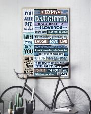 Family To My Daughter -  Dad 11x17 Poster lifestyle-poster-7