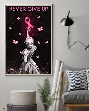 Breast Cancer Awareness Never Give Up 11x17 Poster lifestyle-poster-1