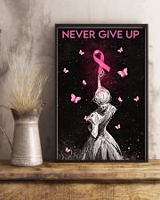 Breast Cancer Awareness Never Give Up 11x17 Poster lifestyle-poster-3