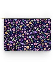 Nice Flowers Pattern Gift for wife mom dad sister Accessory Pouch - Large thumbnail