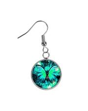 Heart Necklace Metallic  Circle Earrings thumbnail