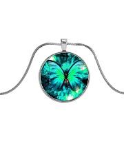 Heart Necklace Metallic  Metallic Circle Necklace thumbnail