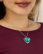 Heart Necklace Metallic  Metallic Heart Necklace aos-necklace-heart-metallic-lifestyle-1