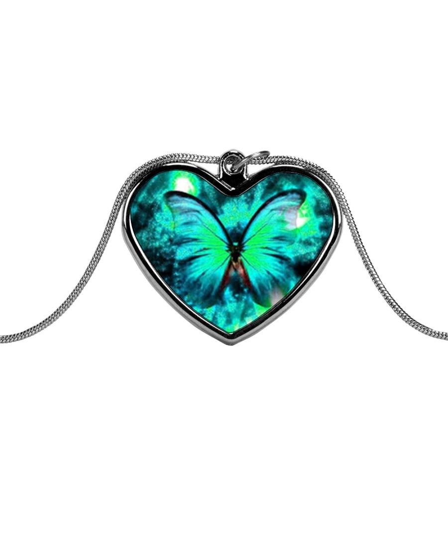 Heart Necklace Metallic  Metallic Heart Necklace