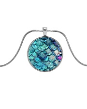 Cute Mermaid Scales Mausepad Metallic Circle Necklace thumbnail