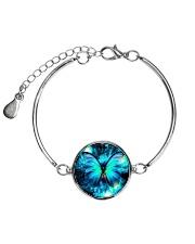 Heart Necklace Metallic  Metallic Circle Bracelet thumbnail