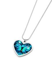Heart Necklace Metallic  Metallic Heart Necklace aos-necklace-heart-metallic-lifestyle-04