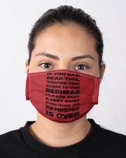 IF YOU CAN READ THIS YOU'RE TOO CLOSE TO THIS RED Cloth face mask aos-face-mask-lifestyle-01