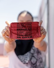 IF YOU CAN READ THIS YOU'RE TOO CLOSE TO THIS RED Cloth face mask aos-face-mask-lifestyle-07