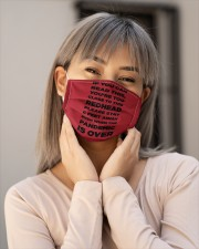 IF YOU CAN READ THIS YOU'RE TOO CLOSE TO THIS RED Cloth face mask aos-face-mask-lifestyle-17
