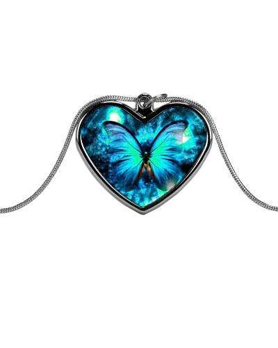 Heart Necklace Metallic