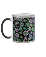 Doodle-Flowers-Pattern Color Changing Mug color-changing-left