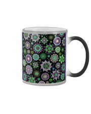 Doodle-Flowers-Pattern Color Changing Mug color-changing-right