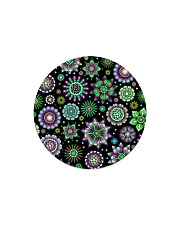 Doodle-Flowers-Pattern Circle Magnet thumbnail