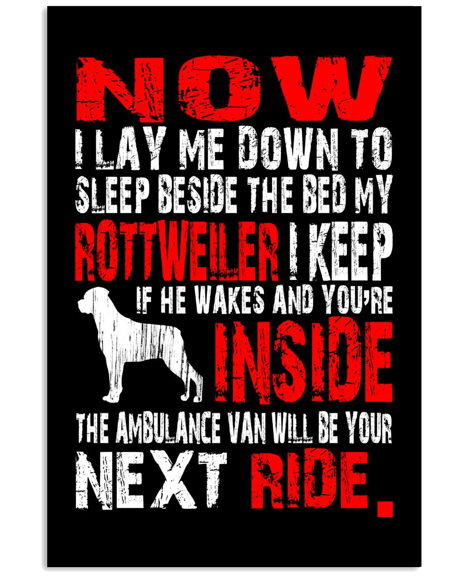 Limited Edition - Rottweiler Ambulance Van 16x24 Poster