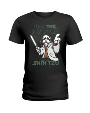 Limited Edition - Shih Tzu - The Force Ladies T-Shirt thumbnail