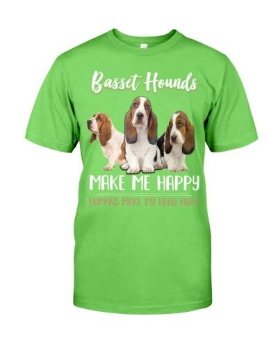 Basset Hounds Make Me Happy