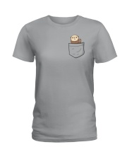 Pocket Otter  Ladies T-Shirt thumbnail