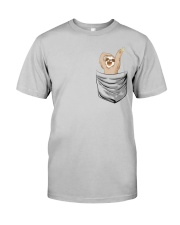 Pocket Sloth Classic T-Shirt front