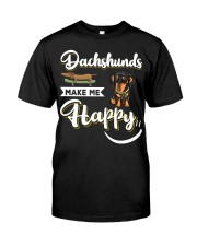Dachshunds Make Me Happy Classic T-Shirt tile