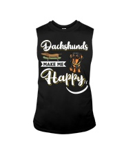 Dachshunds Make Me Happy Sleeveless Tee thumbnail