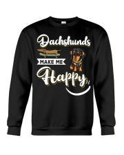 Dachshunds Make Me Happy Crewneck Sweatshirt thumbnail
