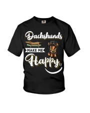 Dachshunds Make Me Happy Youth T-Shirt thumbnail