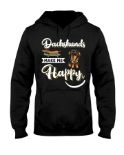 Dachshunds Make Me Happy Hooded Sweatshirt thumbnail