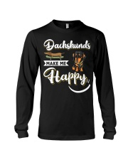 Dachshunds Make Me Happy Long Sleeve Tee thumbnail