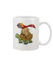 Sloth riding a turtle Mug tile