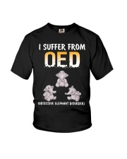 Obsesive Elephant Disorder Youth T-Shirt thumbnail