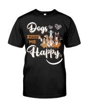 Dogs Make Me Happy Classic T-Shirt thumbnail
