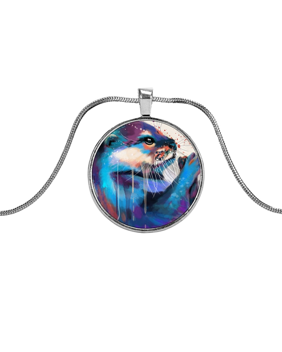 Poster Otter Metallic Circle Necklace